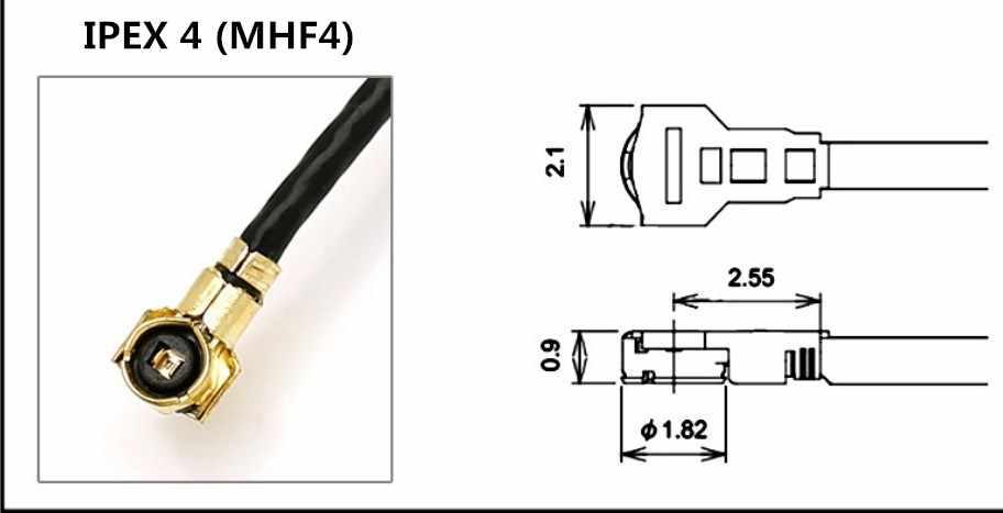 Câble adaptateur mâle 10 cm MHF4 à SMA câble d'extension IPEX 4 Gen IPEX4 à RP-SMA pour module WIFI/GSM/3G/GPS/4G de NGFF M.2