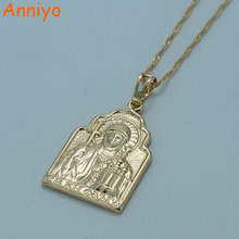Anniyo Russia Cross Pendant Necklace for Women Holy Princess Olga Jewelry Christianity #009404(China)