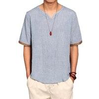 Linen Men Shirts Chinese Culture Men S Shirt Slim Short Sleeve Brand 2017 Summer Men Shirts