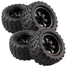 GWOLVES 4Pcs RC Tires Rim Wheel For 1/10 Hex Hubs 12mm Scale Models RC Car HSP Off Road Monster Truck 94111 94108 94188 88035 4pcs rc 1 10 monster bigfoot car truck wheel rim