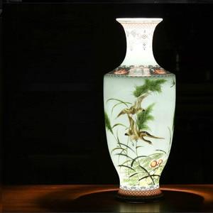 Image 3 - Новое поступление, Классическая традиционная антикварная китайская фарфоровая Цветочная ваза Цзиндэчжэнь для украшения дома и офиса