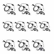 10Pcs BESTFACE 2 Pin Earpiece Earphone with Microphone for BAOFENG UV 5R BF 888S GT-3 Walkie Talkie Radio