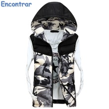 Encontrar 2017 New Mens Camouflage Jacket Sleeveless Veste Homme Winter Casual Coats Male Hooded Men's Camo Vest Thicken,QA359