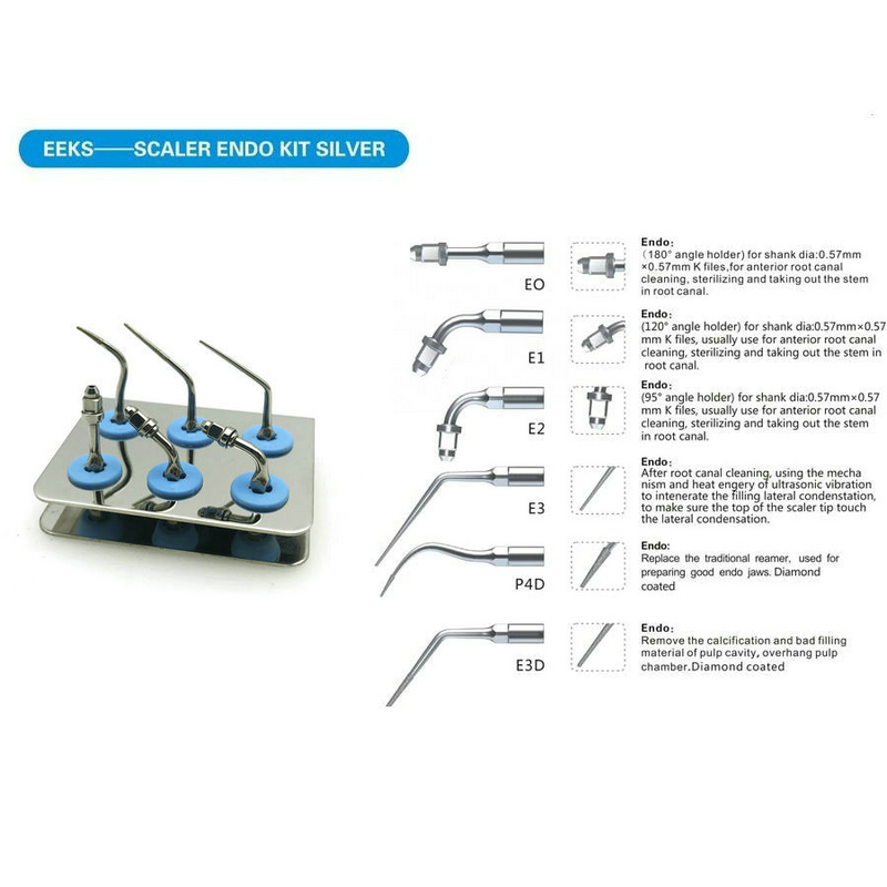 Dental Endo Punta Kit fit EMS/WOODPEDCKER-UDS SERIE SYBRON-ENDO Ad Ultrasuoni ScalerDental Endo Punta Kit fit EMS/WOODPEDCKER-UDS SERIE SYBRON-ENDO Ad Ultrasuoni Scaler