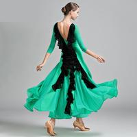 Fashion Middle Sleeve Standard Ballroom Dress Women Waltz Dress Dance Wear Ballroom Dance Dress Modern Costumes Flamenco Dress
