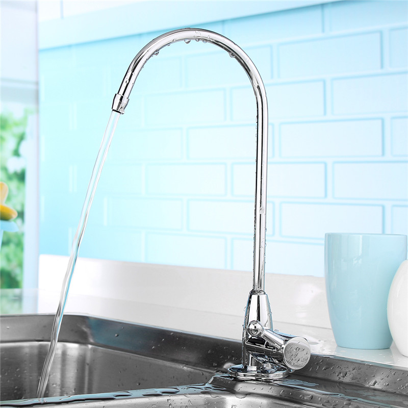Xueqin Stainless Steel 360Degree Rotatable Deck-Mounted Water Purifier Faucet Kitchen Sink Faucets Water Dispenser Tap Long Arm