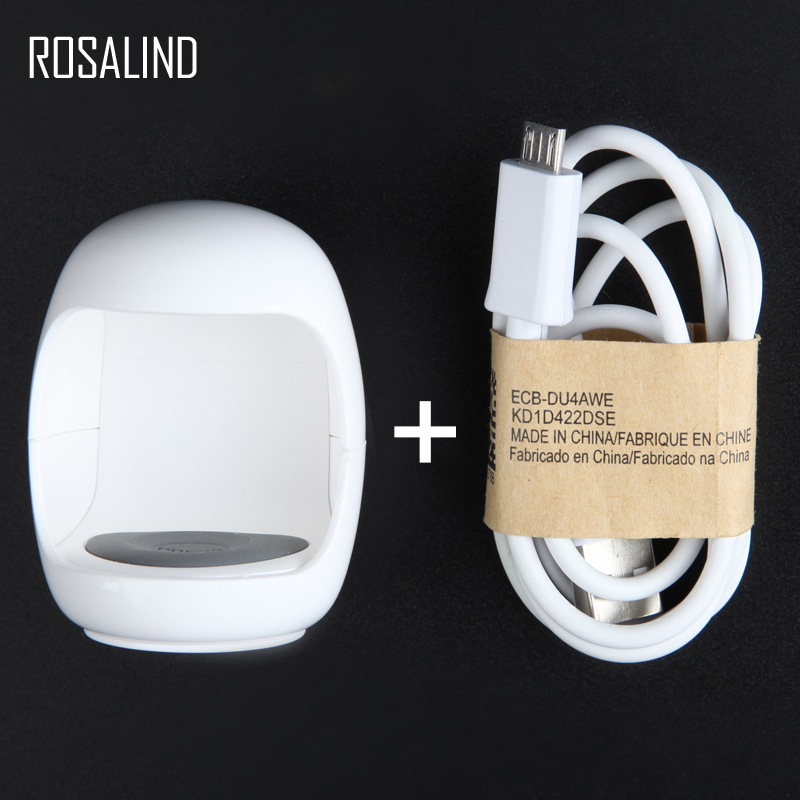 ROSALIND 3W Mini Nail Lamp Curing Tools UV LED Nail Art Manicure Builders With USB Cable Fast Drying Egg Light Nail Dryer