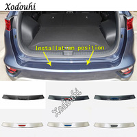 car sticker styling external rear bumper protection trunk trim cover stainless steel plate pedal For Kia Sportage KX5 2019 2020
