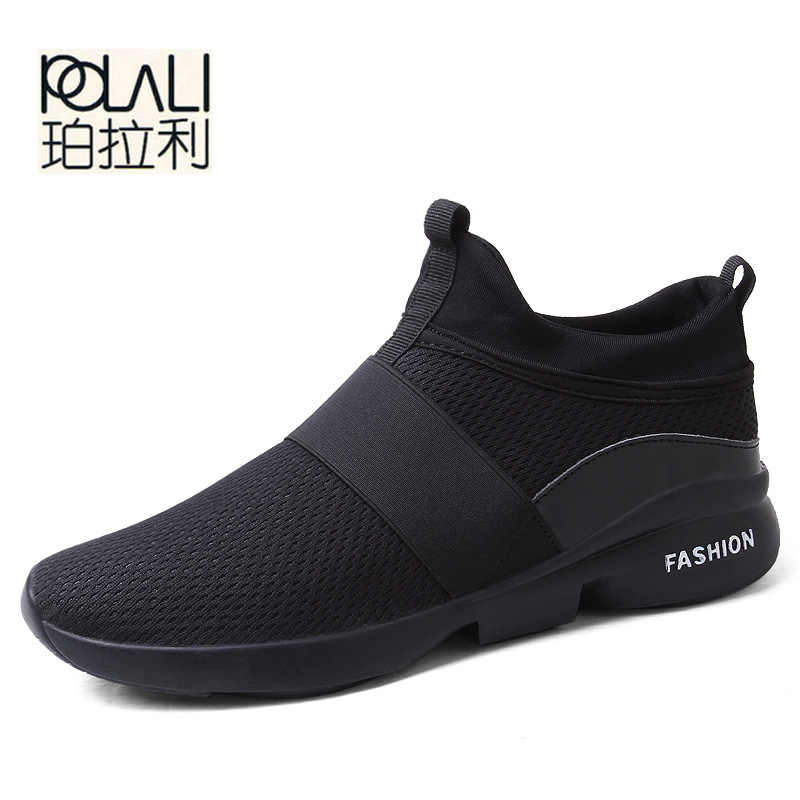 ... POLALI Spring Autumn New models men shoes 2018 fashion comfortable  youth casual shoes For Male ... 0360c1a9b286
