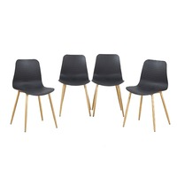 EGGREE Set Of 4 Dining Chair With Wooden Metal Legs Kitchen Chairs For Dining And Living