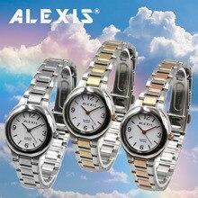 ساعة يد مقاومة للماء للنساء/السيدات من ALEXIS ساعة مصنوعة من الفولاذ المقاوم للصدأ 2035 SSW521ABC ساعة معصم غير رسمية للرجال