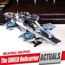LEPIN 07043 Super Heroes The SHIELD Helicarrier Model Building Kits Minifigure Blocks Bricks Toys brin quedos 76042 legoe