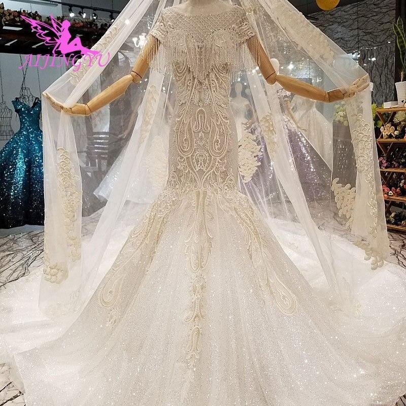 d5cc43419ac AIJINGYU недорогое белое свадебное платье с корсетом кантри пришить на  свадебный дизайн Индия доступные платья импортные платья