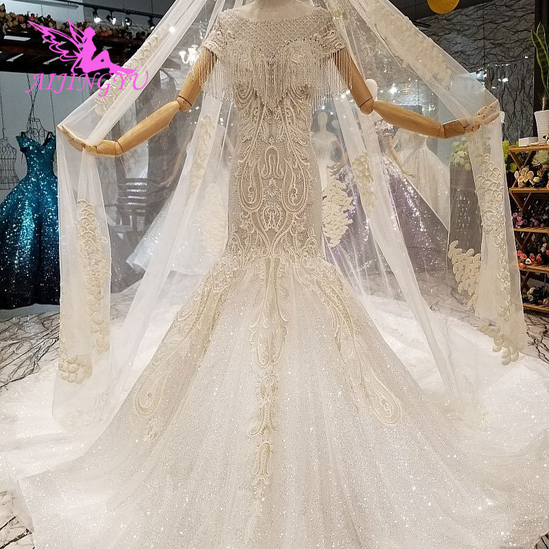 AIJINGYU Cheap Off White Wedding Dress Robe Corset Country Sew On Bridal Design India Affordable Gowns Imported Dresses