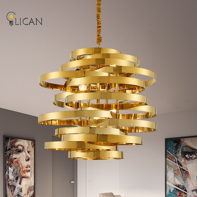Lican modern gold pendant lights hardware modern pendant lamp for lican modern gold pendant lights hardware modern pendant lamp for dining kitchen room foyer metal white mozeypictures Choice Image