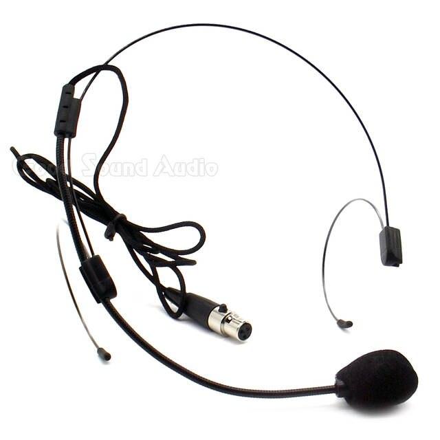 Online Shop Mini Xlr 3 Pins Ta3f Plug Wired Headworn Headset