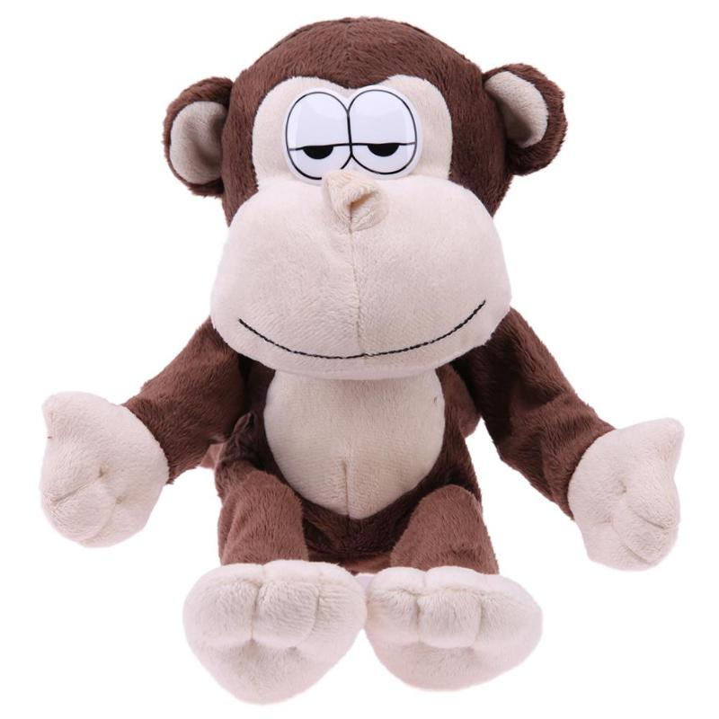 Kids Playmate 35 X 13cm Electronic Funny Monkey Talking Laugh Animal Toy Recording Sound Toy for Kids Ideal Birthday Xmas Gift