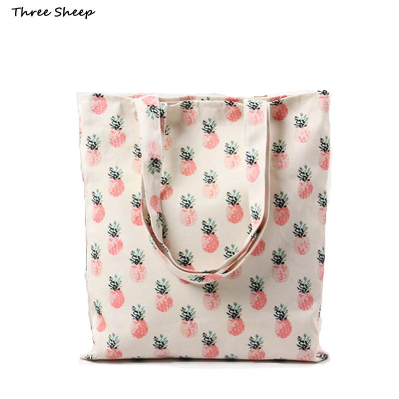 Cotton Canvas Tote Bag White Bags Women Pinele Handbag Las Shoulder Small Sac A Main Femme De Marque In From Luggage