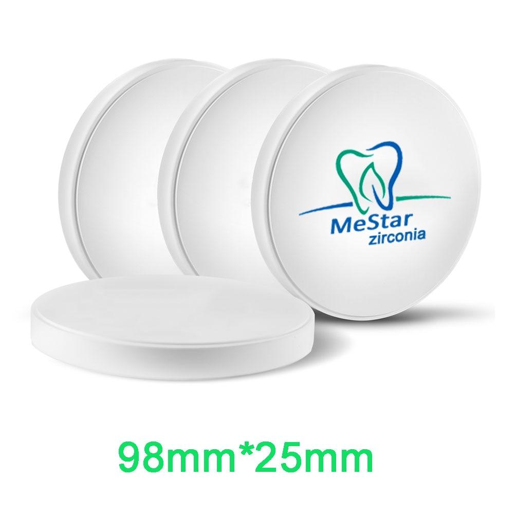 Zirkonia Blok 25mm Tebal untuk Sistem Terbuka CADCAM Gigi CADCAM