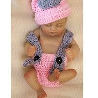 11 Full Body Silicone Reborn Babies Pink Dress Realistic Boy Reborn Doll Bebe Alive Reborn Bebe