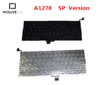 Genuine New A1278 SP Keyboard For Macbook Pro 13″ A1278 2009-2012 Year With Backlight language version SP Replacement