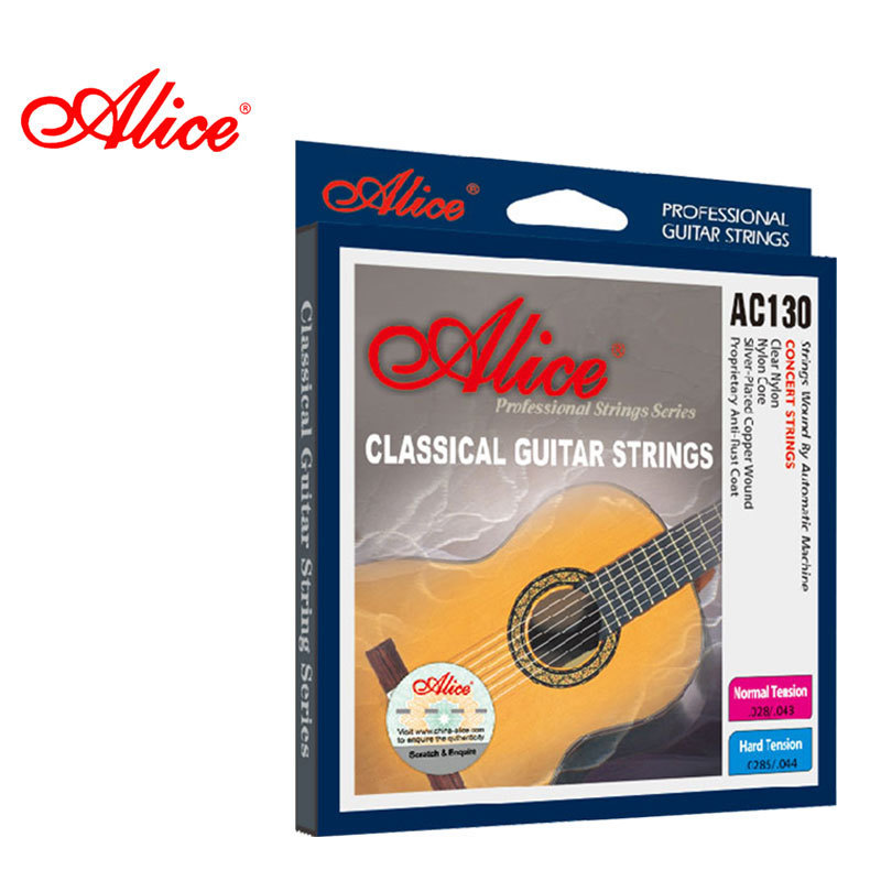 ALICE Brand String For Classical Guitar 6 Pcs/set High Quality Stainless Steel Wire Core Guitarra Strings AC130 olympia brand classical guitar string 1 set 6 strings high quality clear nylon strings normal or hard tension original