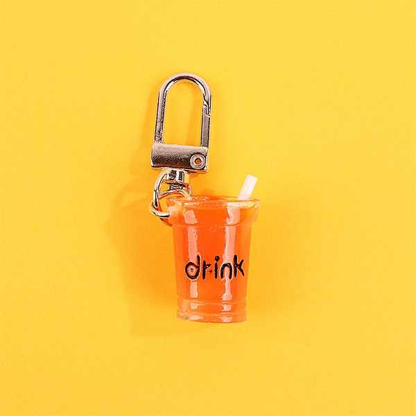Baru Lucu Buatan Tangan Simulasi Lembut Minum Gantungan Kunci Mini Tapioka Minuman Teh Gantungan Kunci Bubble Tea Liontin Resin Wanita Perhiasan Hadiah