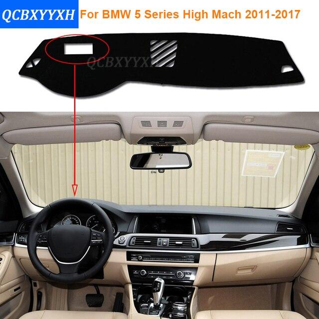 Стайлинга автомобилей Полиэстер Коврик Dashboard Тени Подушки Photophobism Площадку Интерьер Ковер Для BMW 5 Series High Mach 2011-2017