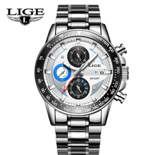 LIGE NEW Mens Watches Top Brand Luxury Fashion Business Quartz Watch Men Sport Wrist Watch Waterproof Clock Relogio Masculino 2018 lige watch men fashion sport quartz clock mens watches top brand luxury business waterproof watch clock relogio masculino