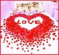 Barato 2000 pçs/lote Decorações De Casamento Por Atacado Casamento Moda Subiu Pétalas de Flores Artificiais de Poliéster Natal 2016 China