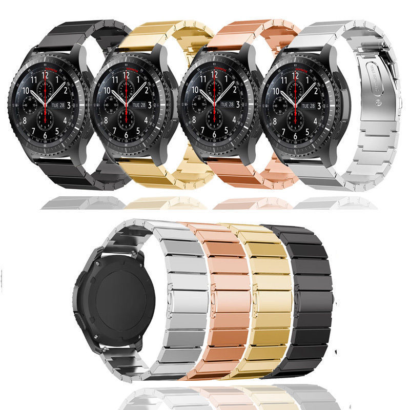 JOYOZY watchband stainless steel watch band strap metal clasp for samsung gear S3 frontier black sliver Rose Gold metal band kapous magic keratin non amonnia na 5 3 100