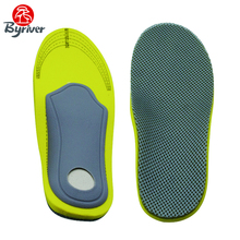 BYRIVER Flat Feet Arch Advanced Climbing Sports Shock Absorber Shoe Pad Breathable Perspiration Massage Insole For Shoes