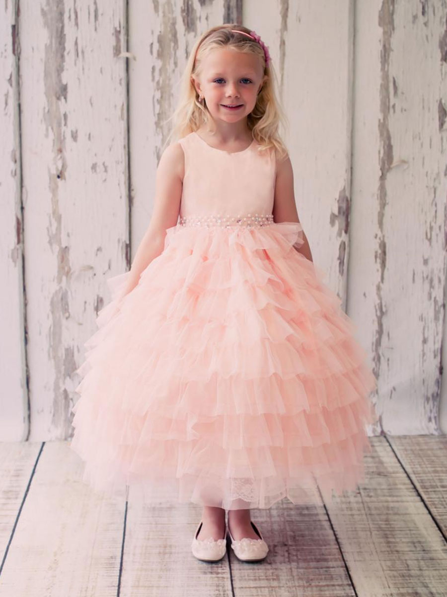 Flower Girls Dresses For Wedding Gowns Tulle Girl Birthday Party Dress Fashion Kids Evening Gowns Tulle Mother Daughter Dresses free shipping flower girls dresses for wedding gowns a line girl birthday party dress baby dress tulle mother daughter dresses
