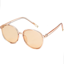 Round big box sunglasses personalized transparent transparent sunglasses simple cross-border sunglasses