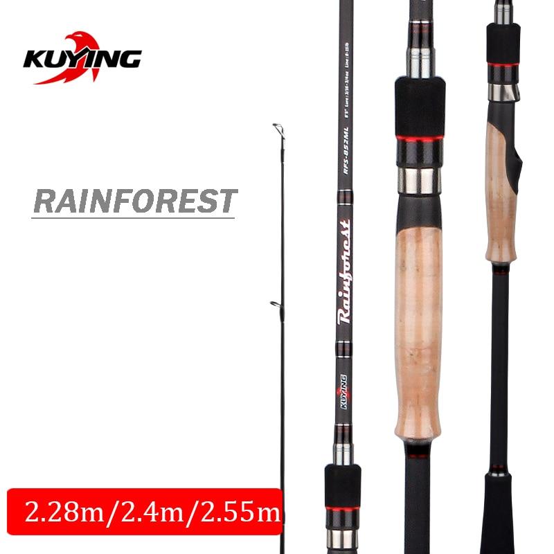 KUYING Rainforest 2 28m 2 4m 2 55m Japanese Carbon Spinning Casting Fishing Rod Lure Fish