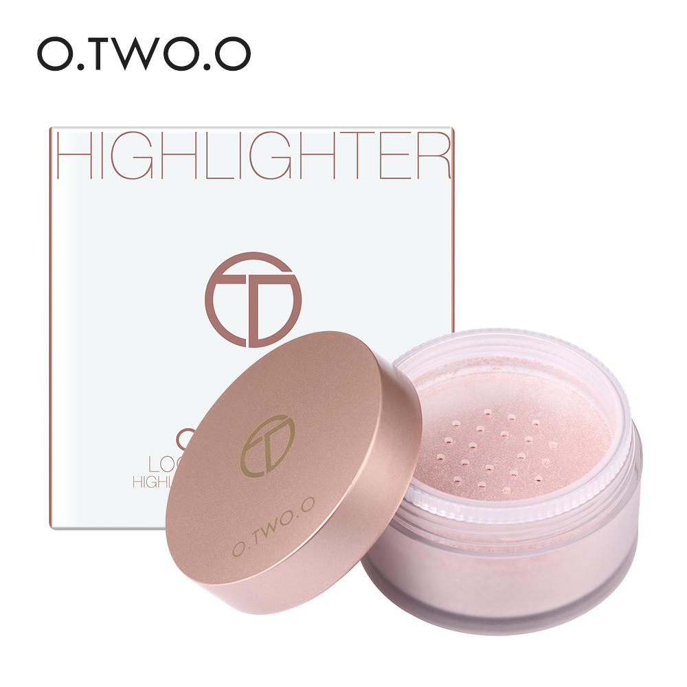 O.TWO.O 4 Colors Shimmer Loose Powder Face Makeup Bronzer and Highlighters Powder Concealer Highlighter Palette Make Up Contour