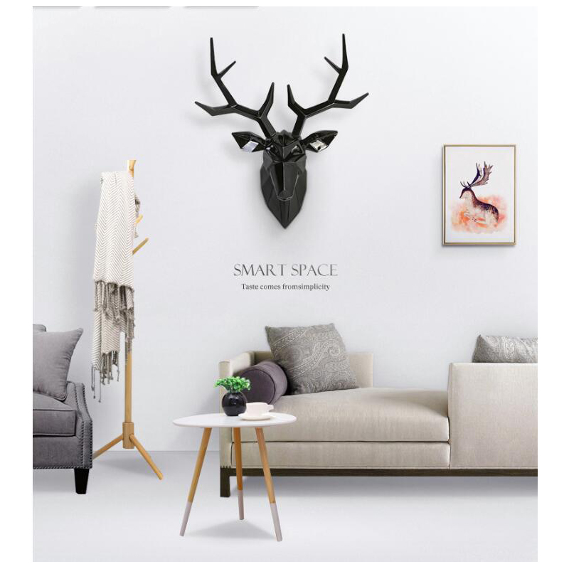 Nordic Luxury Creative Deer Head Wall Hanging Statue Aanimal Figurine Sculpture For Home Decorations Accessories Ornaments Nordic Luxury Creative Deer Head Wall Hanging Statue Aanimal Figurine Sculpture For Home Decorations Accessories Ornaments