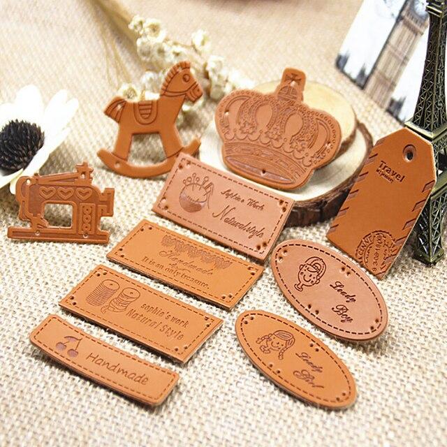 98c067c3fd Etiqueta de cuero para ropa de marca con logotipo personalizado ...