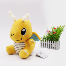 6 15 cm Anime Cartoon Dragonite Plush Peluche Doll Soft Stuffed Hot Toy Great Christmas Gift For Children