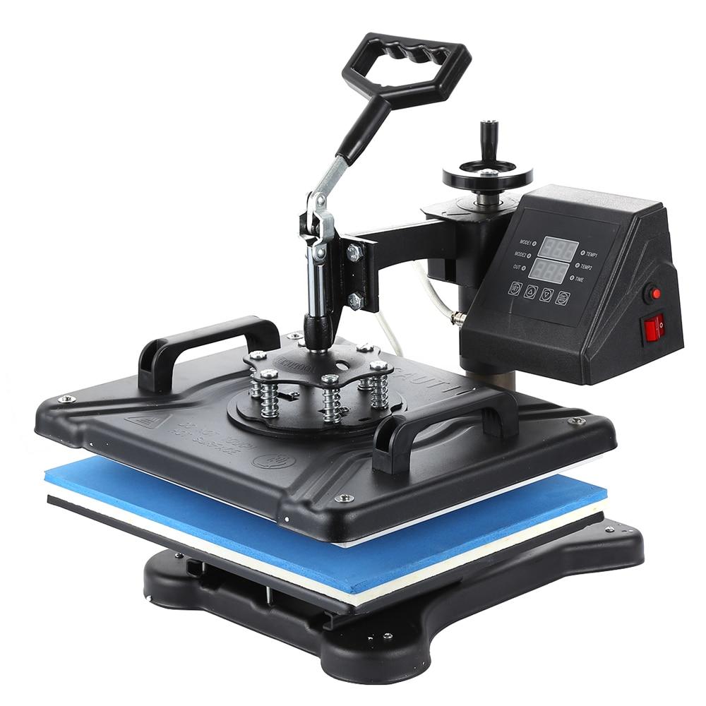 Double Display 12x15 Inch T Shirt Sublimation Heat Press Machine Custom T Shirt Heat Transfer Sublimation Printer