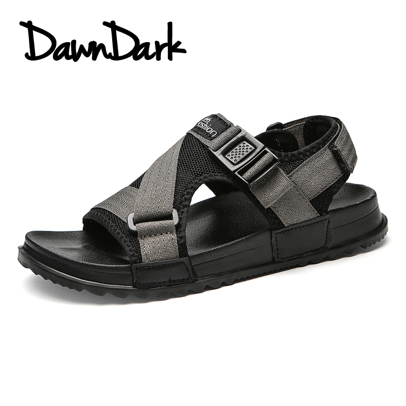 2018 New Summer Men Sandals Breathable Mesh Male Fashion Sandals Outdoor Man Flat Beach Casual Sneakers Plus Size