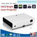 Android 4.4 Wi-Fi Bluetooth 5000 Люмен портативный мини Лазерная кино 3D домашний проектор dlp 1080 P Видео СВЕТОДИОДНЫЙ Проектор Projetor проектор