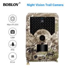 BOBLOV PR200 12MP 49PCS IR Leds Trail Hunting Camera FHD 1920*1080P 25FPS Waterproof Scouting Trail Camera 12mp 1080p fhd infrared night vision scouting camera game trail hunting camera with 42pcs ir leds