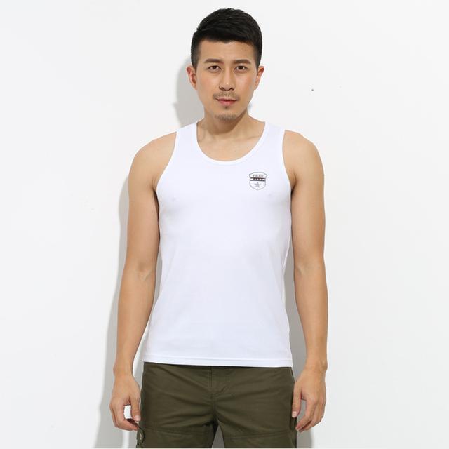 Tops da marca de Moda de Algodão Sem Mangas Dos Homens Cobre T Para O Sexo Masculino Musculação Tops Verão Casual Branco Tops MS-679