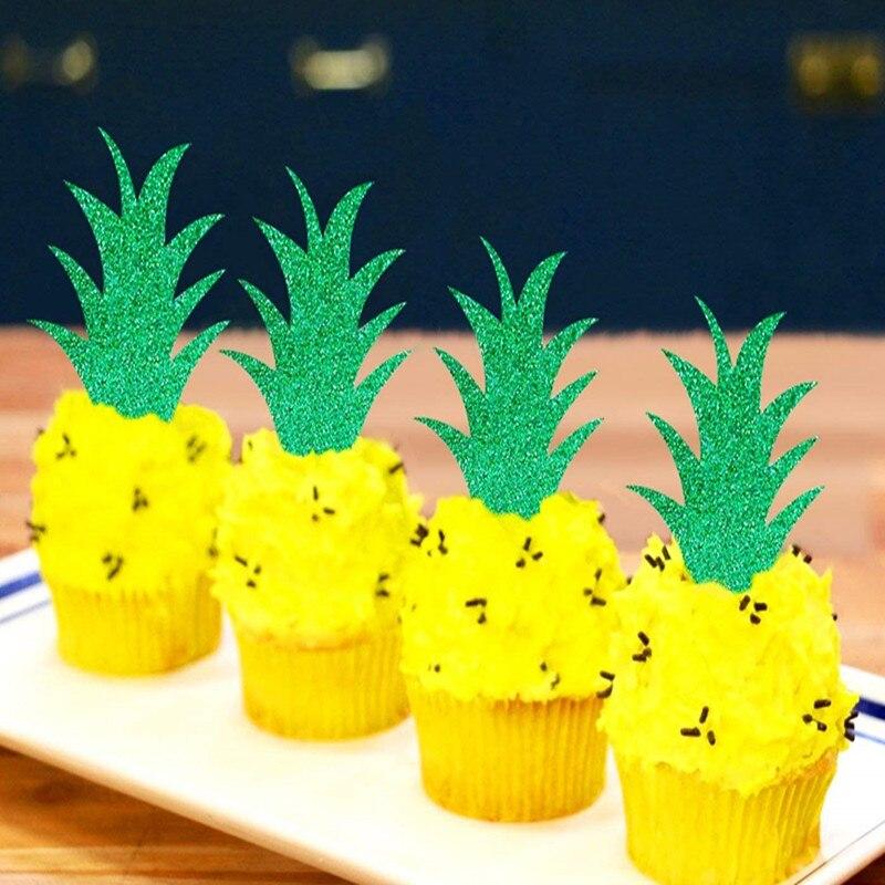 Incredible Amawill 6Pcs Pineapple Birthday Cake Inserts Summer Fruit Party Personalised Birthday Cards Akebfashionlily Jamesorg