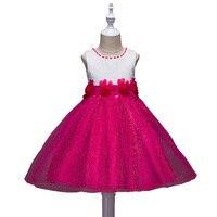 Summer Princess Flower Girls Dress I LoveWedding First Communion Pageant Formal Dresses Baby Girl Sundress Birthday