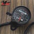 free shipping Universal Motorcycle Black Tachometer Odometer Gauge with LED Backlight for yamaha  honda suzuki kawasaki KTM part