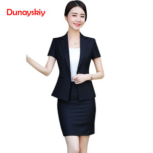 Big Sale New Fashion Women Skirt Suit Two Piece Set Short Sleeve Top And Skirt For Summer Office Ladies Uniform Work Wear — wickedsick