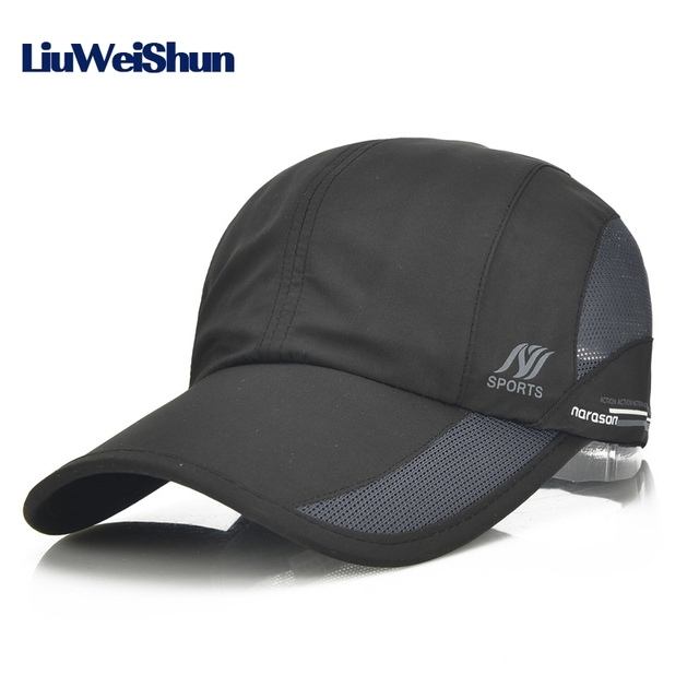 19dcc91a45b LWS 2017 Summer Sport Mesh Baseball Cap Outdoor Sun Quick Dry Breathable Hats  Men Women Adjustable Waterproof Quick-drying CAP