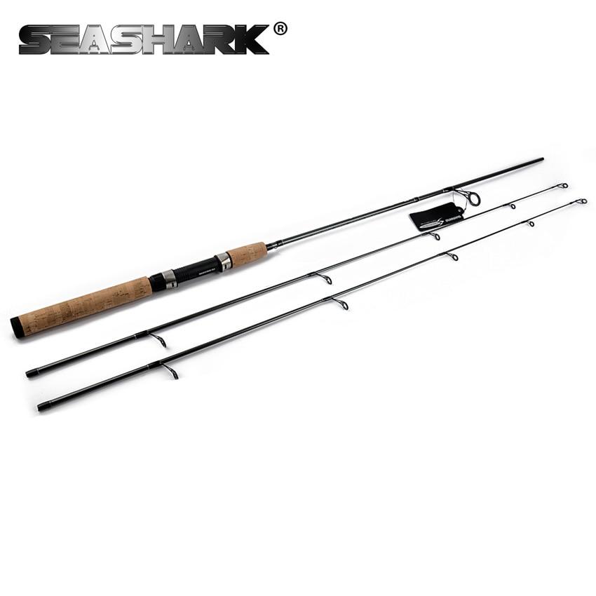 цена на SEASHARK 2 Tips ML /M 1.8M Bait Spinning Rod 99% Carbon Action Fast Ultralight Rod Lure Fishing Rod Spinning Rod